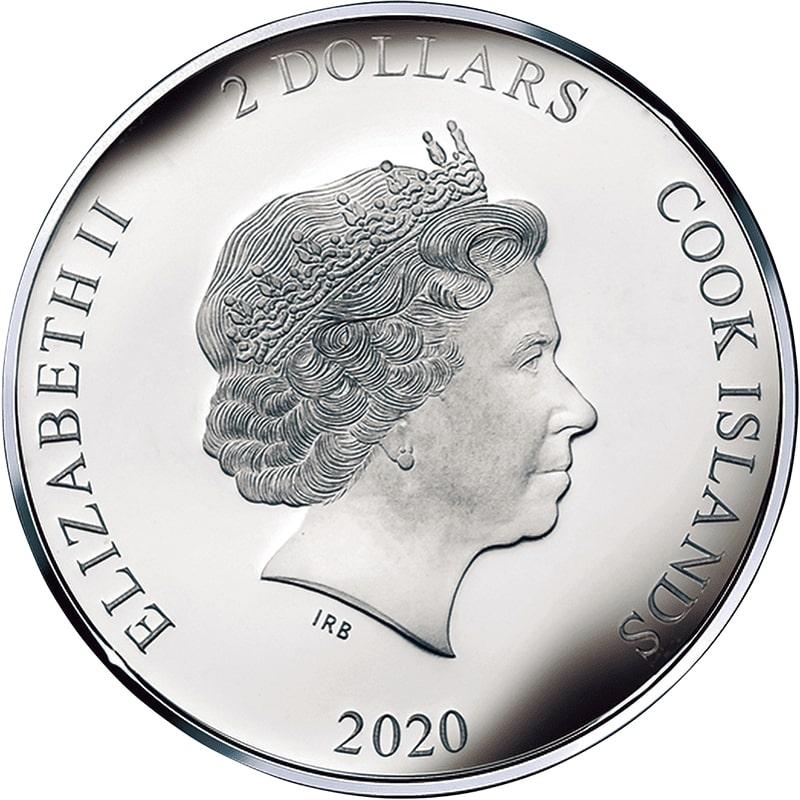 2 Dollars - Elizabeth II (The Nude Maja) - Cook Islands