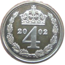 4 Pence - Elizabeth II (Maundy Money) – reverse