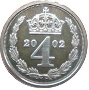 4 Pence - Elizabeth II (Maundy Money) – reverse