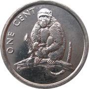 1 Cent - Elizabeth II (Monkey) – reverse
