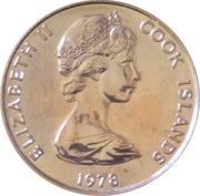 1 Tene - Elizabeth II (2nd portrait; James Cook) – obverse
