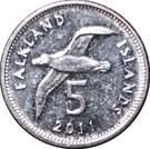5 Pence - Elizabeth II (4th portrait - magnetic) – reverse