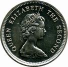 5 Pence - Elizabeth II (2nd portrait; small type) – obverse