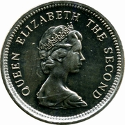 5 Pence - Elizabeth II (2nd portrait; small type) – obverse