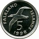 5 Pence - Elizabeth II (2nd portrait; small type) – reverse