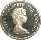 5 Pence - Elizabeth II (2nd portrait; large type) – obverse
