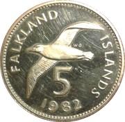 5 Pence - Elizabeth II (2nd portrait; large type) – reverse