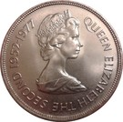 50 Pence - Elizabeth II (Silver Jubilee) – obverse