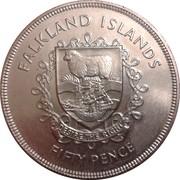 50 Pence - Elizabeth II (Silver Jubilee) – reverse