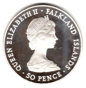 50 Pence - Elizabeth II (Queen Mother; Silver Proof Issue) -  obverse