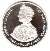 50 Pence - Elizabeth II (Queen Mother; Silver Proof Issue) -  reverse