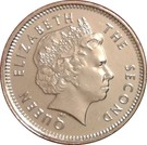 5 Pence - Elizabeth II (4th portrait) – obverse