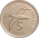 5 Pence - Elizabeth II (4th portrait) – reverse