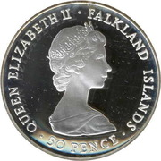 50 Pence - Elizabeth II (Liberation; Silver Proof Issue) – obverse