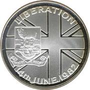 50 Pence - Elizabeth II (Liberation; Silver Proof Issue) – reverse