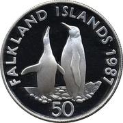50 Pence - Elizabeth II (WWF; Silver Proof Issue) – reverse