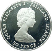 50 Pence - Elizabeth II (Wedding of Prince Charles & Lady Diana Spencer) – obverse
