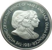 50 Pence - Elizabeth II (Wedding of Prince Charles & Lady Diana Spencer) – reverse