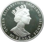 50 Pence - Elizabeth II (40th Anniversary-Reign of Queen Elizabeth II) – obverse