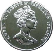 50 Pence - Elizabeth II (40th Anniversary-Coronation of Queen Elizabeth II) – obverse