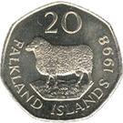 20 Pence - Elizabeth II (2nd portrait) – reverse