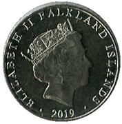 5 Pence - Elizabeth II (5th portrait) – obverse