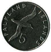 5 Pence - Elizabeth II (5th portrait) – reverse