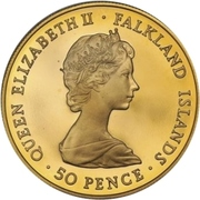 50 Pence - Elizabeth II (Liberation; Gold Proof Issue) – obverse