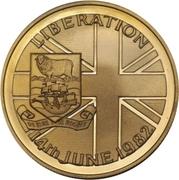 50 Pence - Elizabeth II (Liberation; Gold Proof Issue) – reverse