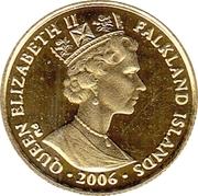1/25 Crown - Elizabeth II (Bicentenary of Birth of Isambard Kingdom Brunel; Gold Proof Issue) – obverse