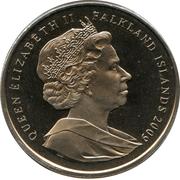 1 Crown - Elizabeth II (Charles Darwin) -  obverse