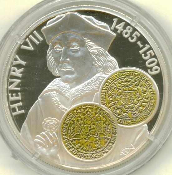 50 Pence Elizabeth Ii Henry Vii Gold Sovereign Falkland