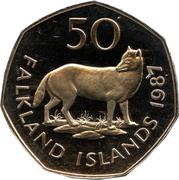 50 Pence - Elizabeth II (2nd portrait; large type) – reverse