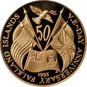 50 Pence - Elizabeth II (V.E. Day) – reverse