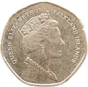 20 Pence - Elizabeth II (5th portrait) – obverse
