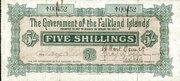 5 Shillings (Green) – obverse