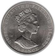 50 Pence - Elizabeth II (Mt. Pleasant Airport) – obverse
