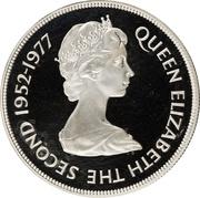 50 Pence - Elizabeth II (Silver Jubilee; Silver Proof Issue) – obverse