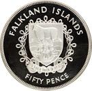 50 Pence - Elizabeth II (Silver Jubilee; Silver Proof Issue) – reverse