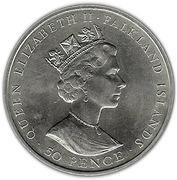 50 Pence - Elizabeth II (Mt. Pleasant Airport; Silver Issue) – obverse