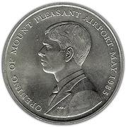 50 Pence - Elizabeth II (Mt. Pleasant Airport; Silver Issue) – reverse