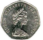 50 Pence - Elizabeth II (2nd portrait; large type) -  obverse
