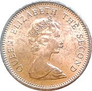 ½ Penny - Elizabeth II (2nd portrait) – obverse