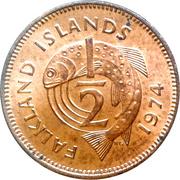 ½ Penny - Elizabeth II (2nd portrait) – reverse