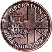 50 Pence - Elizabeth II (Falkland Liberation) – reverse