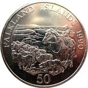 50 Pence - Elizabeth II (Children's Fund) – reverse