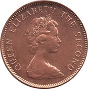 1 Penny - Elizabeth II (2nd portrait; magnetic) – obverse
