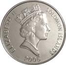 10 Cents - Elizabeth II (3rd portrait; magnetic) – obverse
