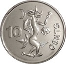 10 Cents - Elizabeth II (3rd portrait; magnetic) – reverse