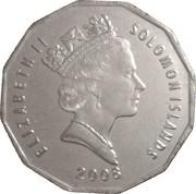 50 Cents - Elizabeth II (3rd portrait; magnetic) -  obverse
